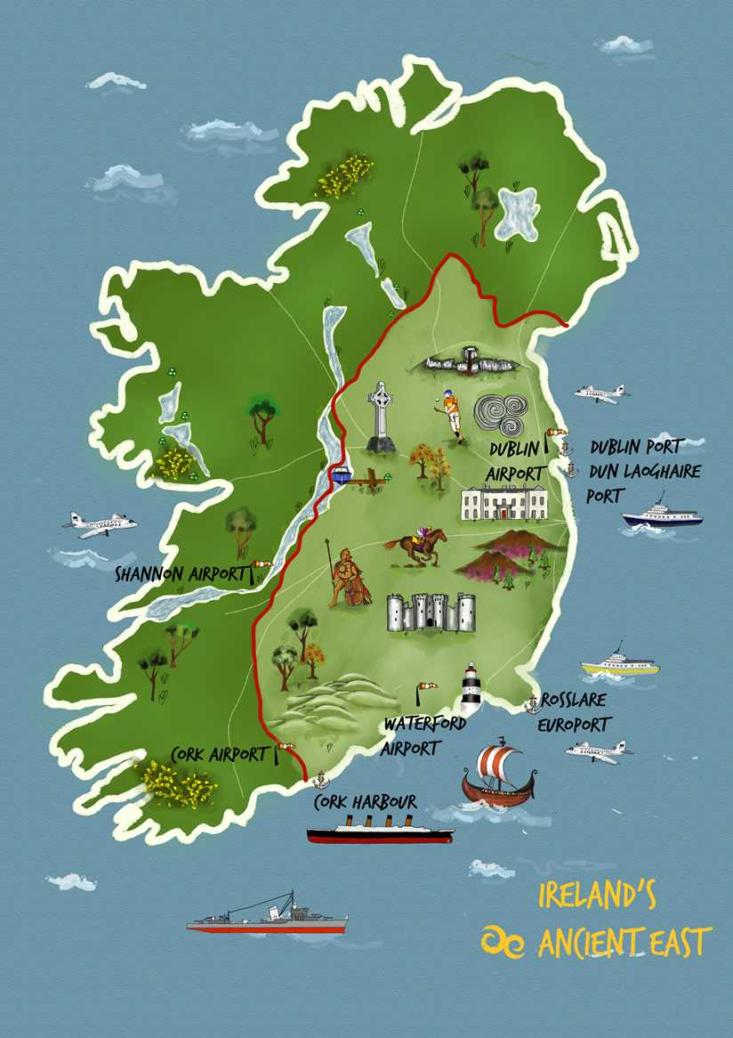 Map Of Ireland Midlands.Discover Captivating Legends Folklore In Ireland S Ancient East