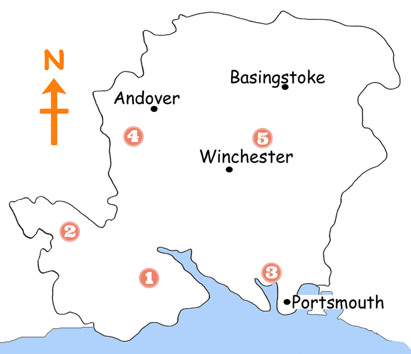 Map Of Uk Hampshire.5 Child Friendly Walks In Hampshire The New Forest Maps Included