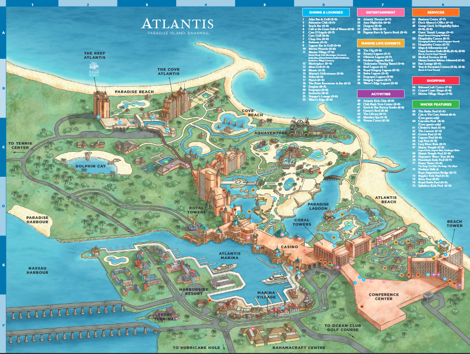 atlantis bahamas property map 10 Insider Tips For Atlantis Travelzoo atlantis bahamas property map