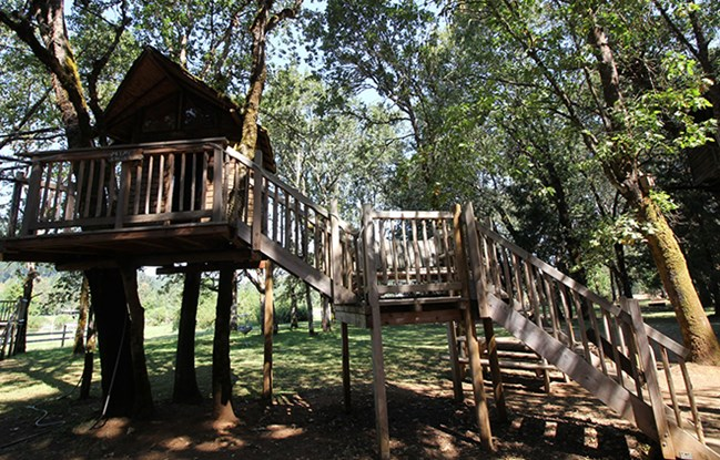 River Rafting And Horseback Riding The 36 Acre Treesort Next To Siskiyou National Forest Is Much More Than A Treehouse Hotel It S An Inner