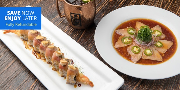 Doraku Sushi earns 4-plus stars on Yelp And TripAdvisor from over 1,400 reviews. Save up to 35% on an izakaya-style lunch or dinner.