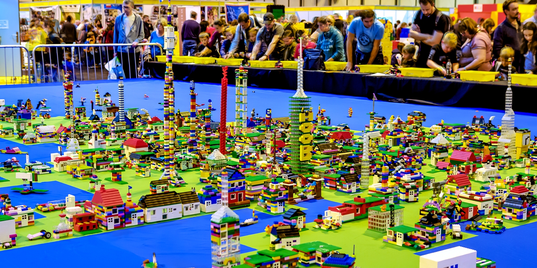 Toy brick exhibition in Birmingham, 26% off