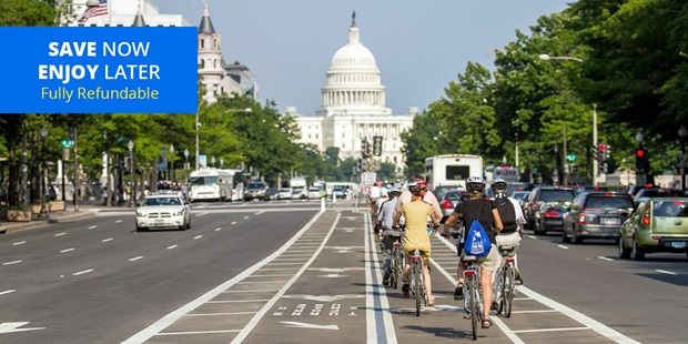 Bike among the historical sites of Washington, D.C., while saving up to 65% on bike rentals or guided tours.