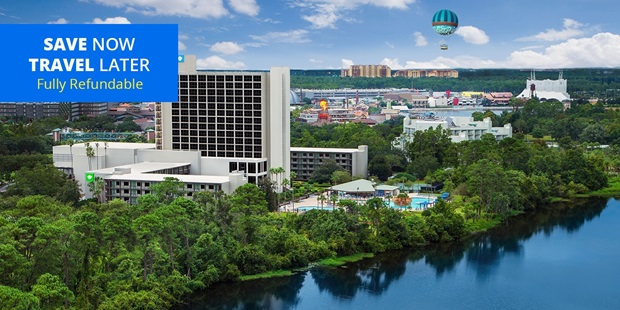 The spring months are arguably the most popular time of year to visit Orlando theme parks, due to the ideal weather and buckets of sunshine. This 4-star Wyndham puts you steps from the most magical place on earth — stay for as low as $95 through June and save 35%.
