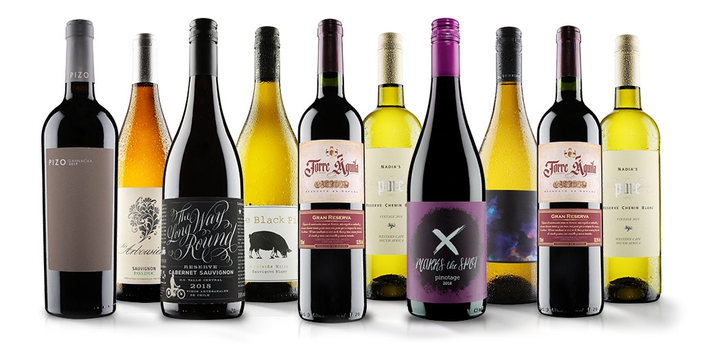 10 bottles of wine: red, white or mixed case, exc P&P