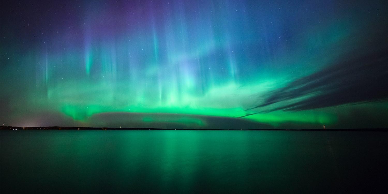Northern Lights night-flight experience
