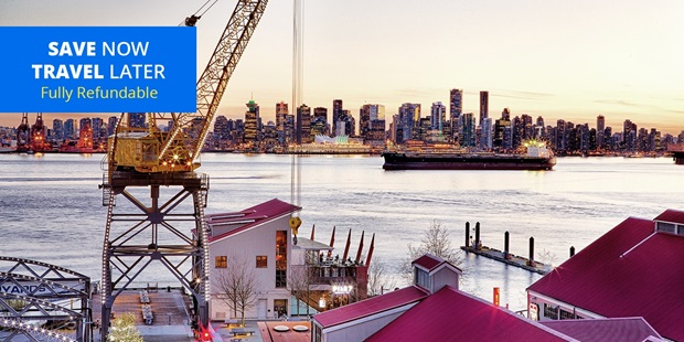 Located along the waterfront in North Vancouver, the Pinnacle Hotel at the Pier offers spectacular views of downtown Vancouver. Travelzoo members save up to 35% on stays with parking and a $50 dining credit through July.