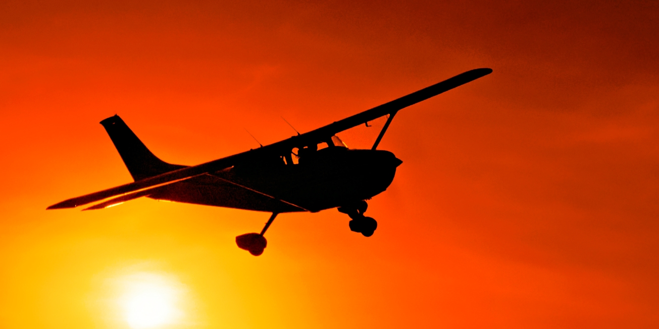 $149 -- Private Sunset Flight & Dinner for 2, Reg. $276