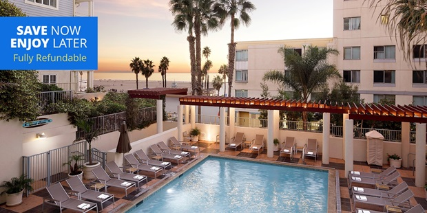 Save over 45% on a spa package at the JW Marriott Santa Monica's Spa Le Merigot, rated 4 stars on TripAdvisor. The spa has smaller amenities, but an ideal beachfront location makes up for it.