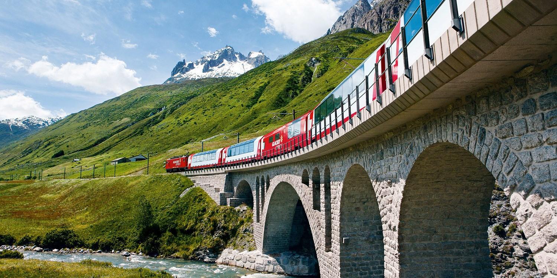 Schweiz-Reise mit Bahn, Hotels & Glacier Express