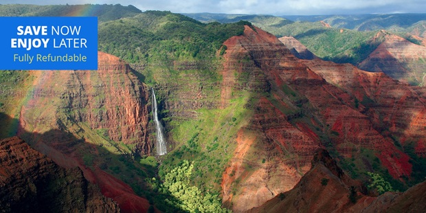 Explore Kauai's natural gems with a day-long bus tour, leading the way to various island highlights including Waimea Canyon.