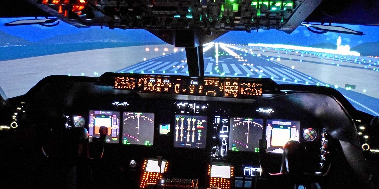 Jumbo jet flight simulator experience in Coventry