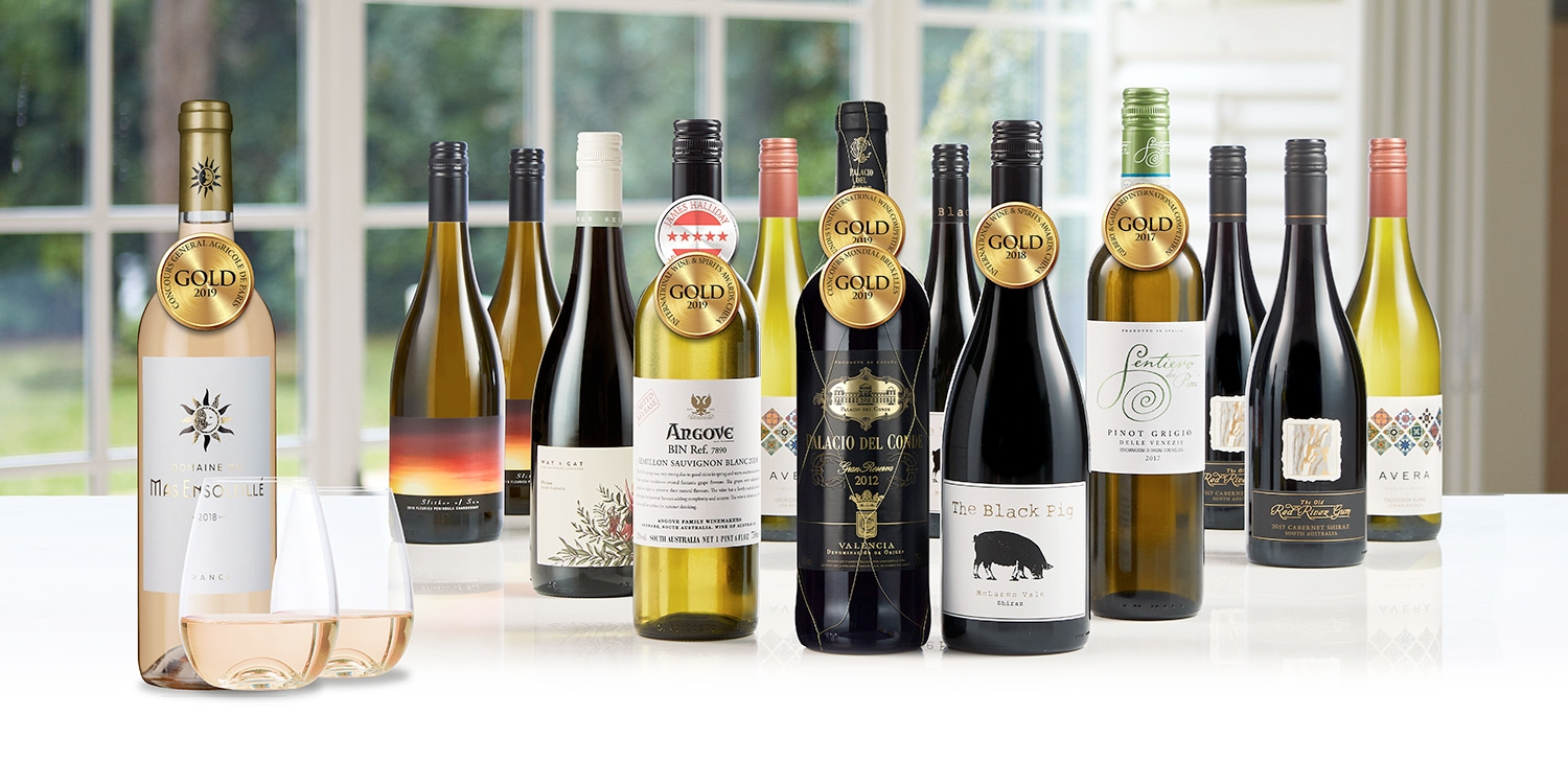Virgin Wines: 12 Wines w/Stemless Glasses & French Rosé
