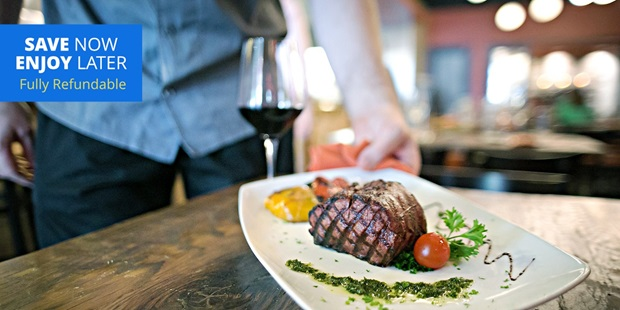 Save more than 40% on a three-course dinner for two from the casual, sophisticated (Houston Chronicle) Sal y Pimienta. Or, dine in the comfort of your own home with lunch credits, which offer delivery or curbside pick up options.