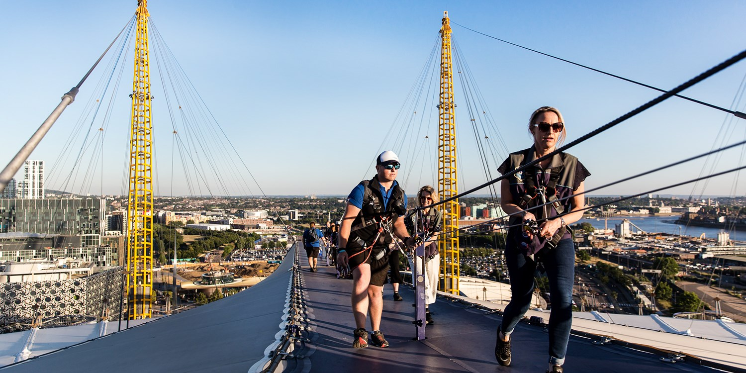 'Exhilarating' climb: The O2 in London, save 20%