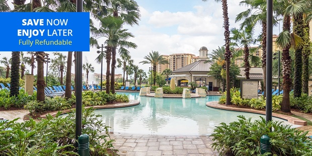 Get pampered at Blue Harmony Spa inside the AAA 4-Diamond Wyndham Grand Orlando. Travelzoo members can enjoy a spa day with bubbly and pool access, while saving up to 55% off on select treatments.
