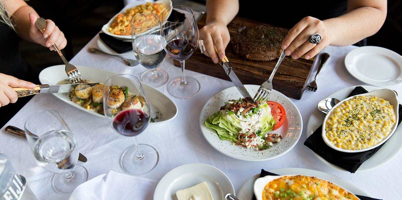 $69 -- III Forks: Steakhouse Dinner for 2, Half Off