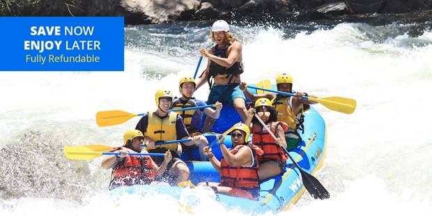 Get your adrenaline rush riding down Class IV rapids on the Middle Fork, right at the base of Oxbow Dam. Or, for a more laid-back experience, paddle down South Fork.