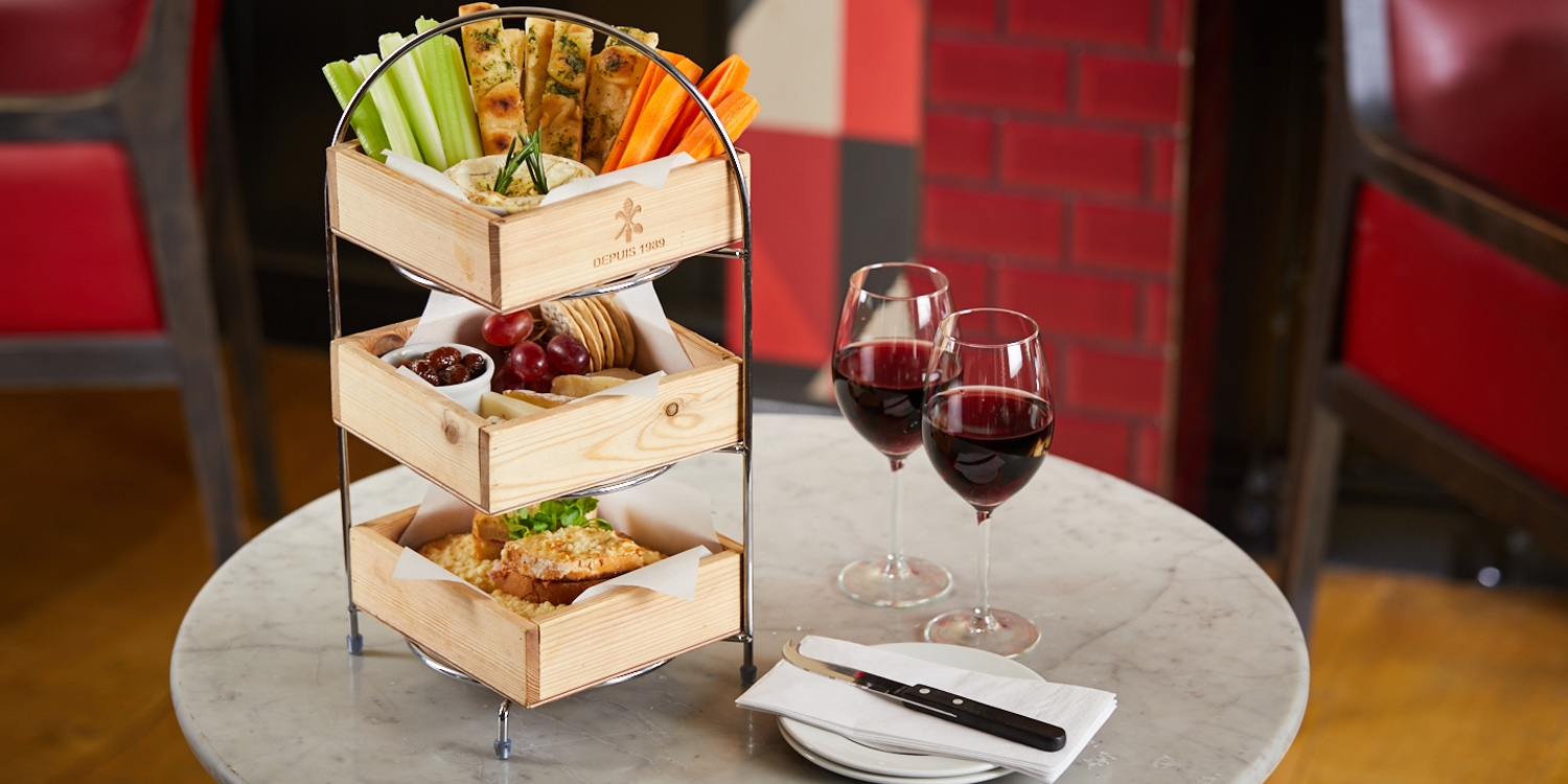Cheese afternoon tea for 2 at Café Rouge