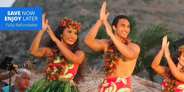 Soak in Hawaiian culture and dig into island-style cuisine at the top-rated Ka Moana Lū'au, which Yelp and TripAdvisor users rate 4.5 stars from over 1000 reviews.