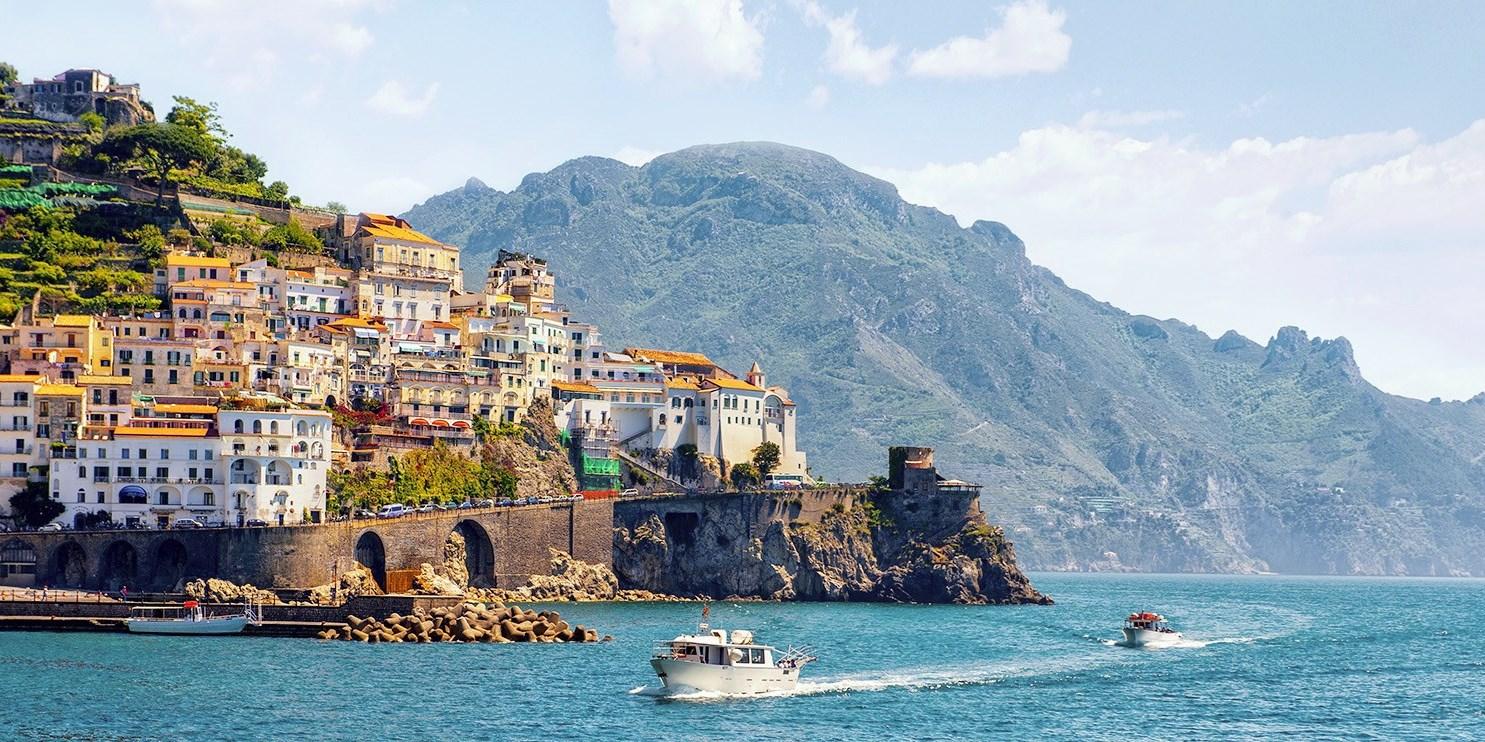Amalfiküste mit Panoramablick & Flug, -28%