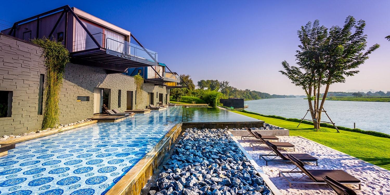 $5,583 – 曼谷周邊北碧府五星度假村漂浮小屋,接近大自然、享用香檳早餐 -- 北碧府, 泰國