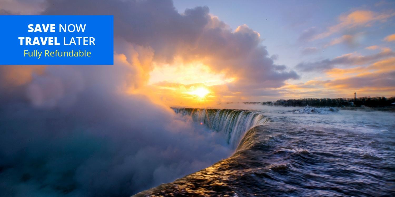 $72 & up – Niagara Falls: Room with a View & Dining Credit, 35% Off -- Niagara Falls, Canada