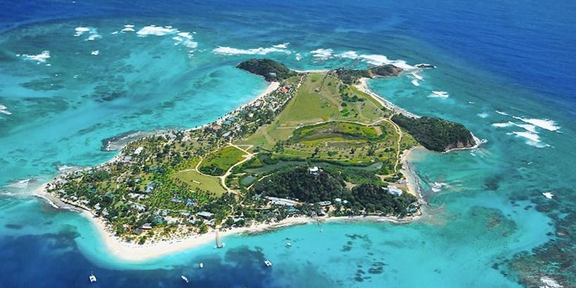 Palm Island Resort Grenadines Map