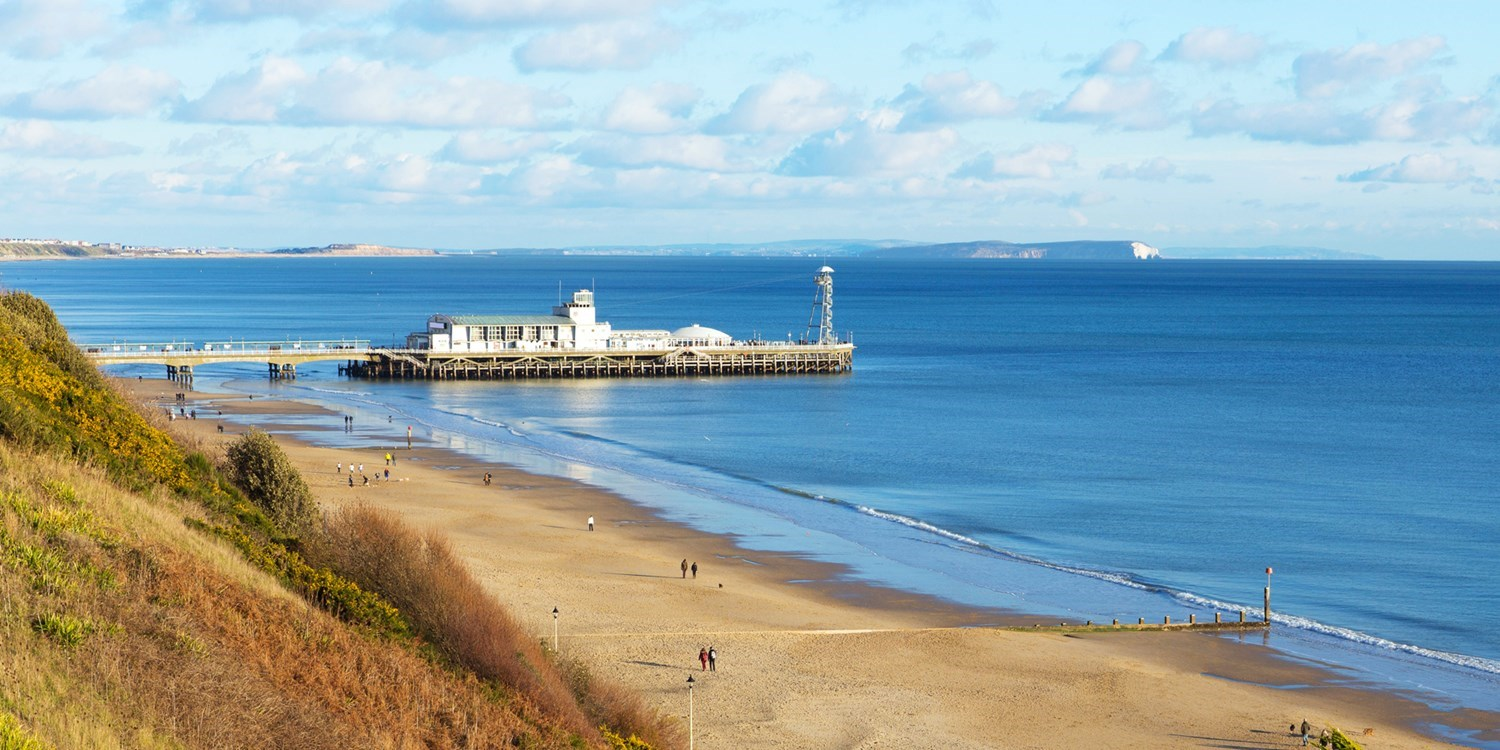 Bournemouth Pier and the beach