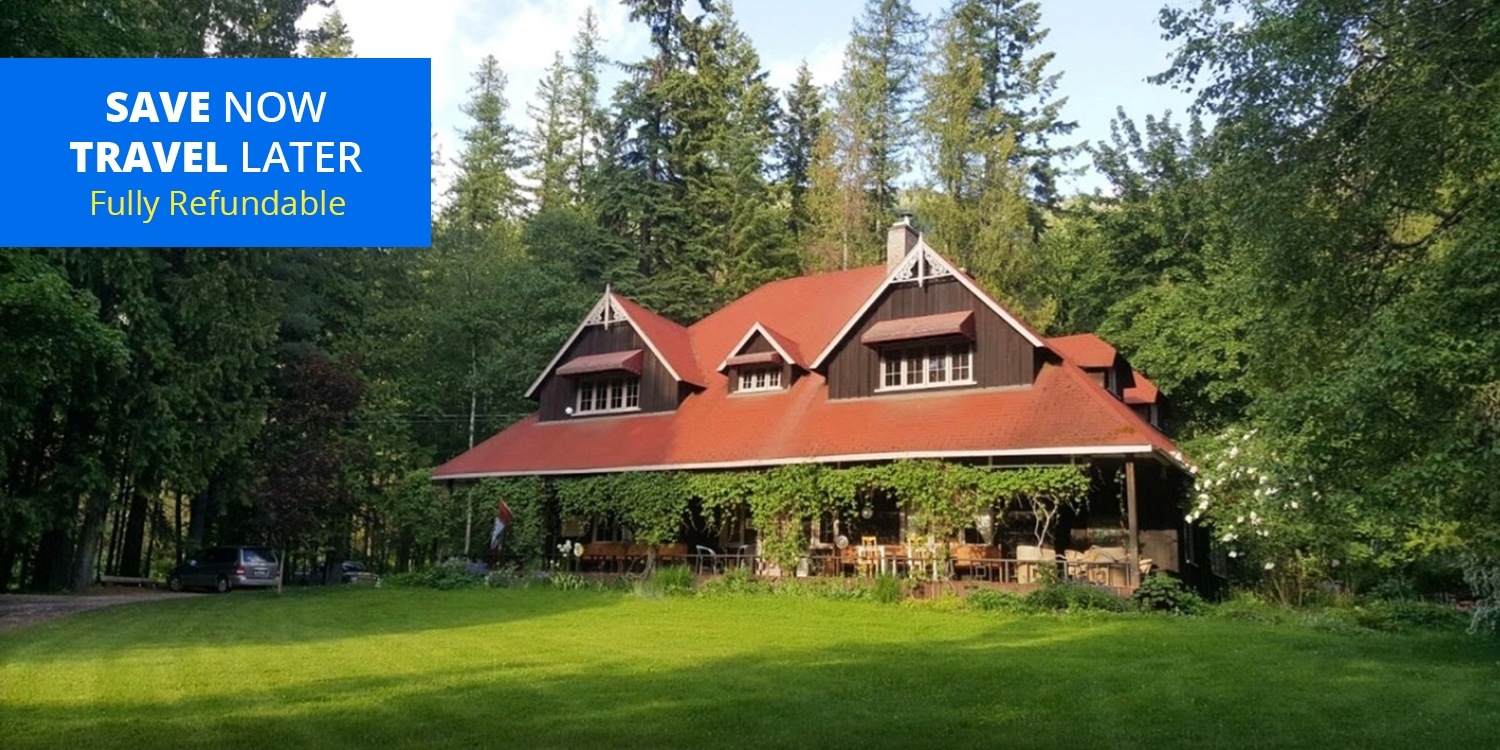 $287 – Kootenays: 2-Nt. Country Manor Stay thru Summer, Reg. $410 -- Crawford Bay, BC, Canada